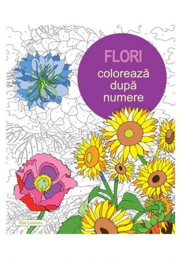 Flori - coloreaza dupa numere