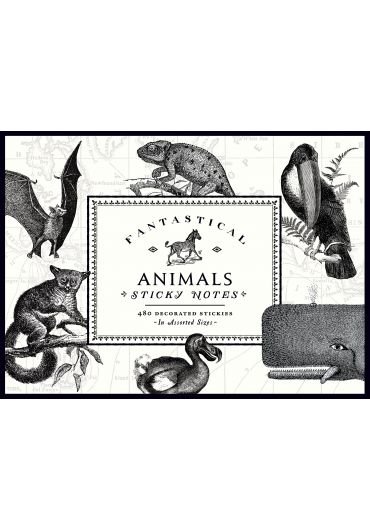 Sticky Notes - Alice Scott Vintage Prints Fantastical Animals