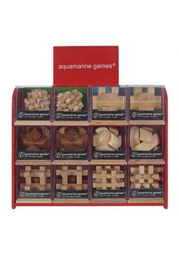 Puzzle din lemn - Aquamarine