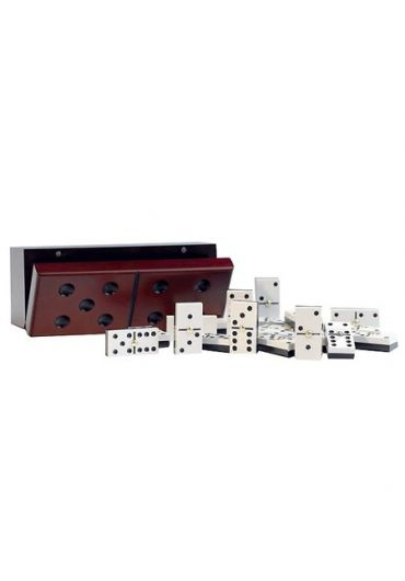 Domino in cutie de lemn