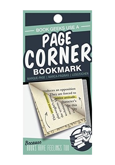 Semn de carte verde - Page corners - Book Geeks