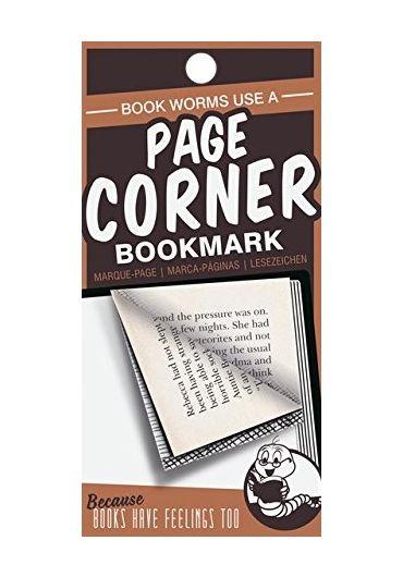Semn de carte portocaliu - Page corners - Book Worms