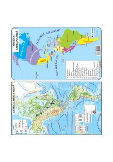 Plansa - Harta America Pliata