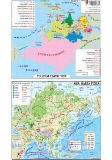 Plansa - Harta Asia Pliata