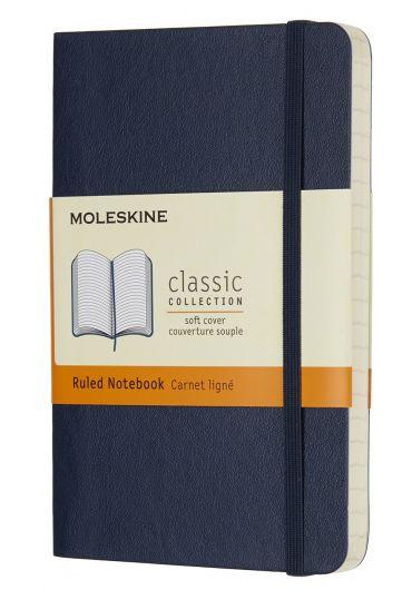 Carnet - Sapphire Blue Pocket Ruled Notebook Soft