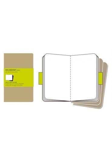 Set de 3 Agende Plain Cahier Kraft - Pocket