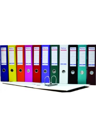 Biblioraft plastifiat 75 mm Optima Basic gri